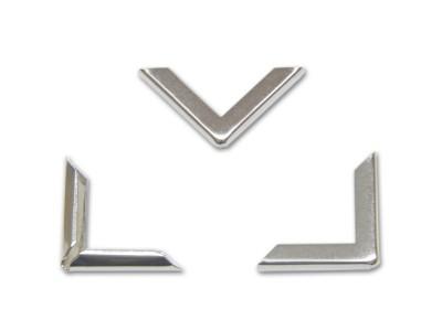Buchecken, vernickelt, 22 x 22 mm, Fassung 3,5 mm