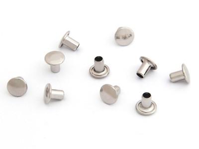 Maschinen-Hohlniete 1-teilig, 6 mm, vernickelt