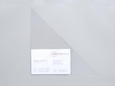 Dreiecktaschen mit Visitenkartenhalterung, 150 x 150 mm, selbstklebend