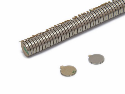 Magnete selbstklebend rund 12 x 1 mm