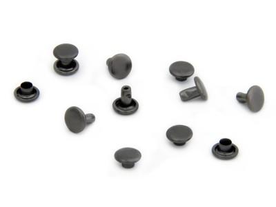 Doppelkopf-Hohlniete 2-teilig, H3, schwarz/braun